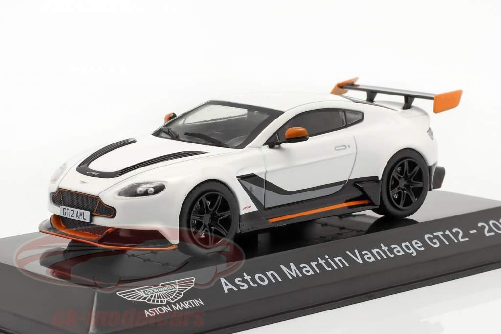 Aston Martin Vantage GT12 Ano de construção 2015 Branco 1:43 Altaya