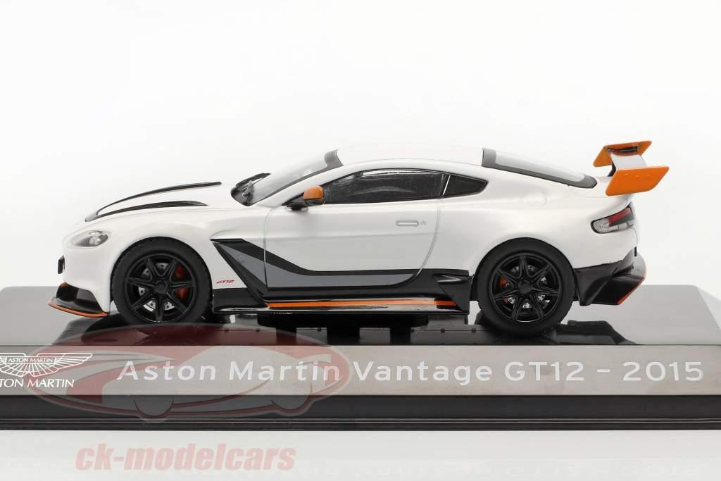 Aston Martin Vantage GT12 Année de construction 2015 blanc 1:43 Altaya