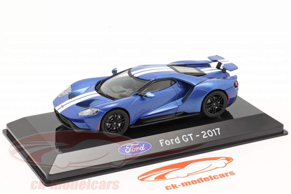 Ford GT Baujahr 2017 blau metallic 1:43 Altaya