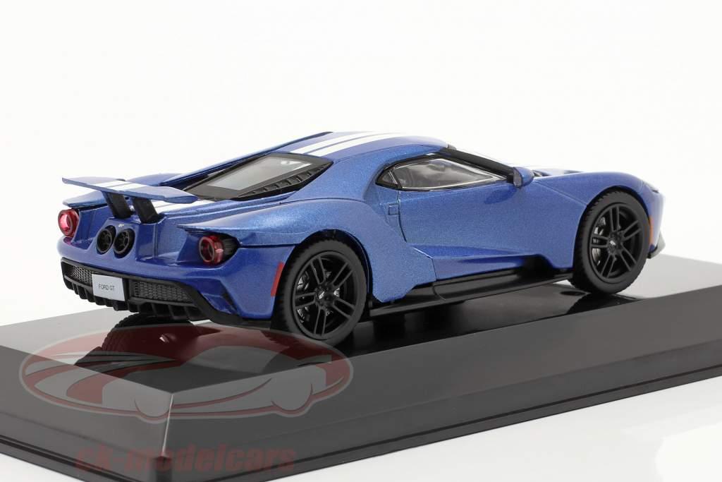 Ford GT Byggeår 2017 blå metallisk 1:43 Altaya