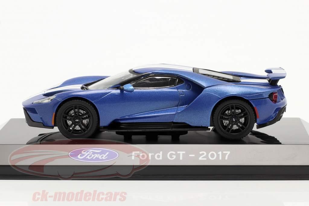 Ford GT year 2017 blue metallic 1:43 Altaya