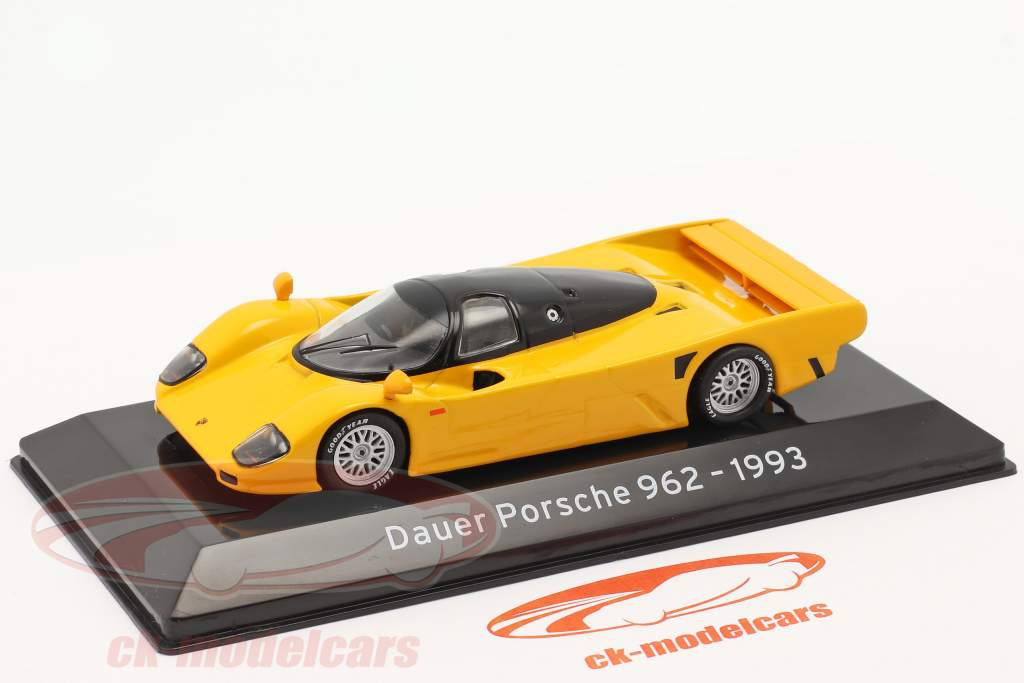 Dauer Porsche 962 Año de construcción 1993 Amarillo naranja 1:43 Altaya