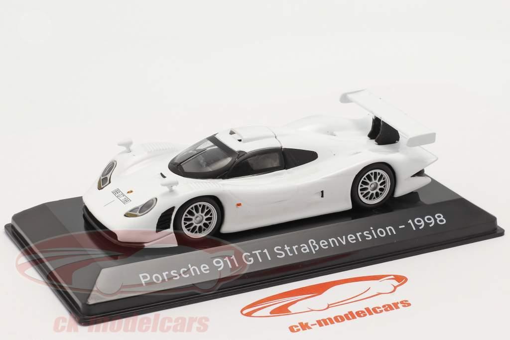 Porsche 911 GT1 Gade version 1998 hvid 1:43 Altaya