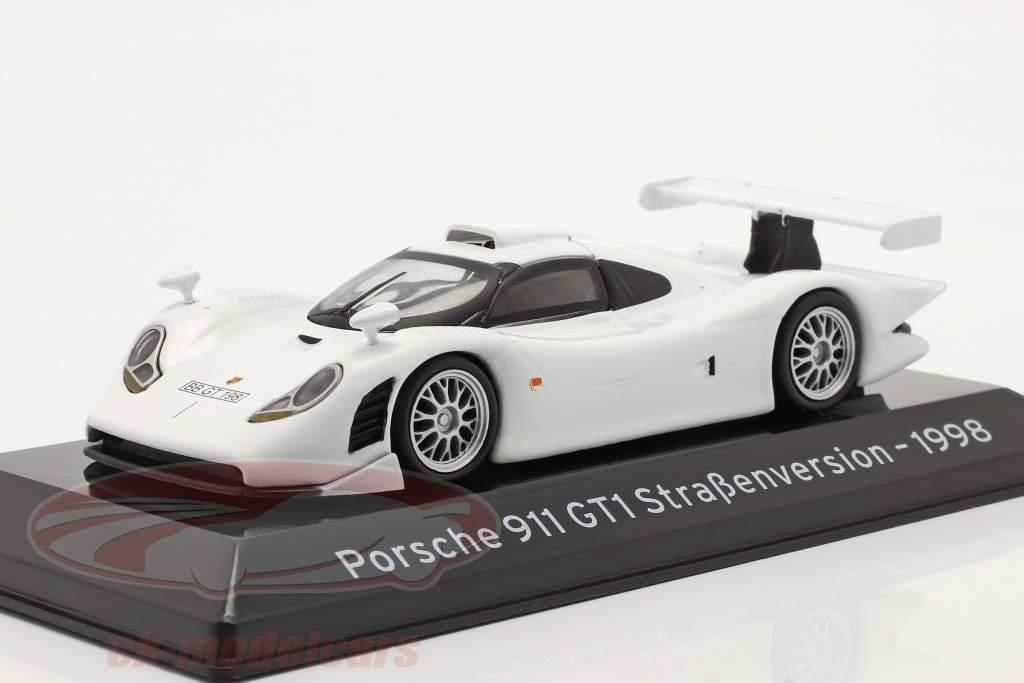Porsche 911 GT1 strada versione 1998 bianca 1:43 Altaya
