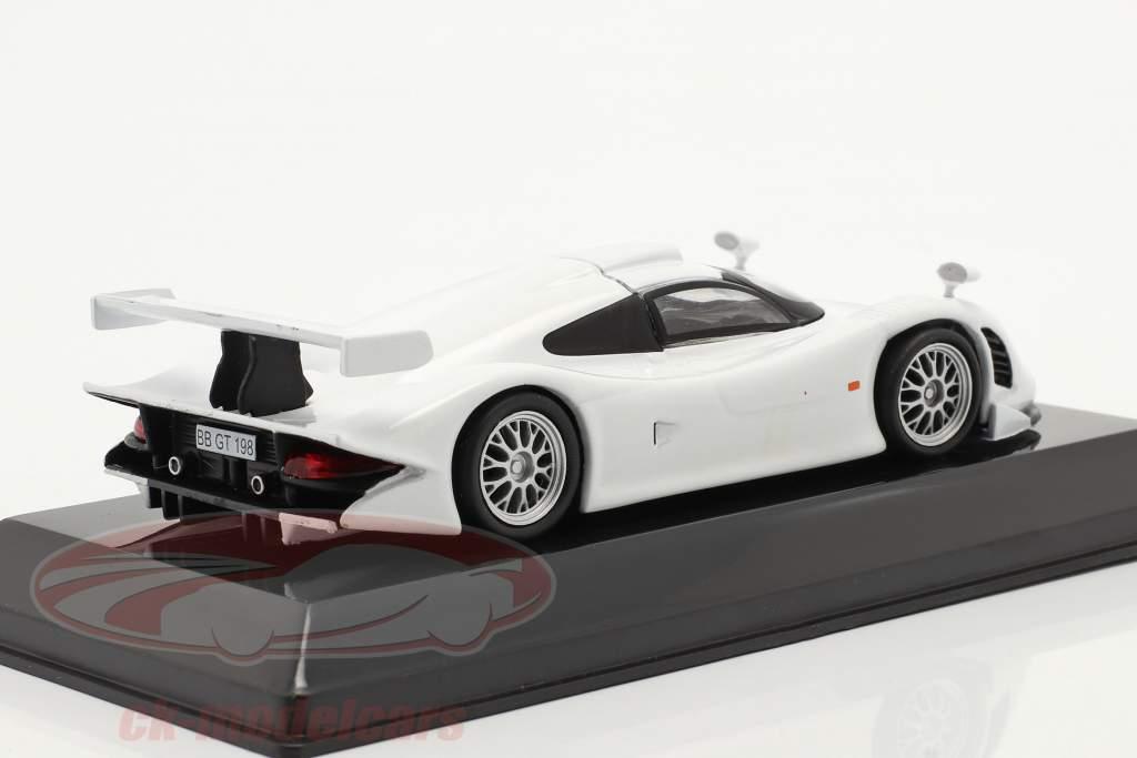 Porsche 911 GT1 Straat versie 1998 Wit 1:43 Altaya