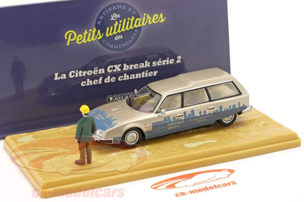 Citroen CX Break serie 2 Chef de Chantier beige metallico / blu 1:43 Atlas