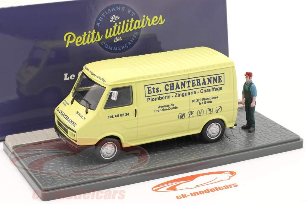 Citroen C35 Van de caixa encanador luz amarela / azul 1:43 Atlas