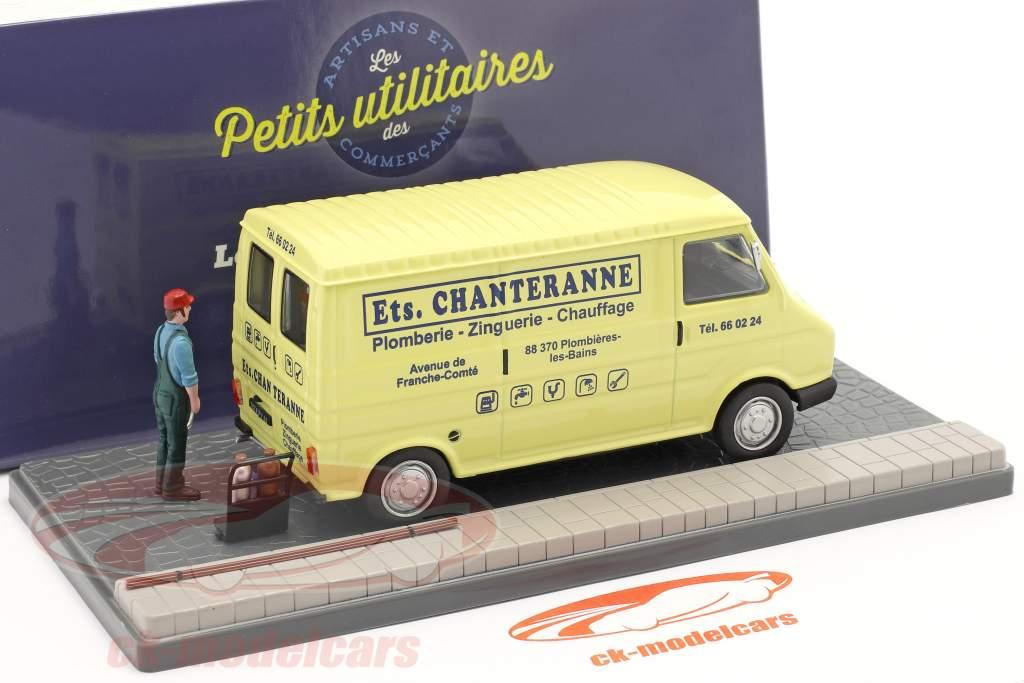 Citroen C35 Bestelwagen loodgieter licht geel / blauw 1:43 Atlas