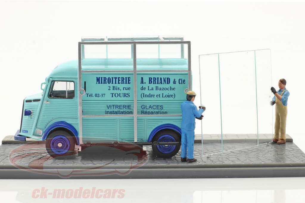 Citroen Type H Glasmaskiner Lyseblå 1:43 Atlas