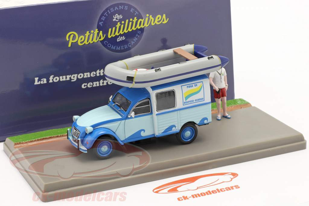 Citroen 2CV AKS 400 Minivan Centre Nautique blue 1:43 Atlas