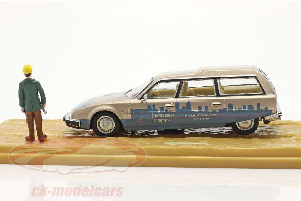 Citroen CX Break serie 2 Chef de Chantier beige metallisk / blå 1:43 Atlas