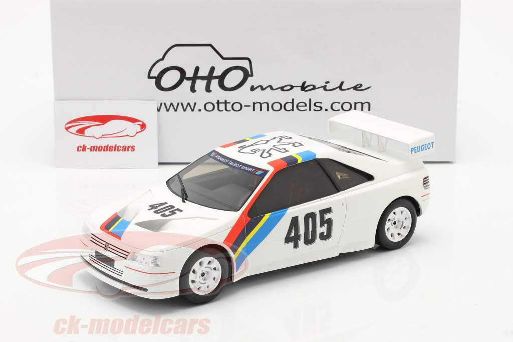 Peugeot 405 T16 Gr. S #405 Presentation Car 1988 blanc 1:18 OttOmobile