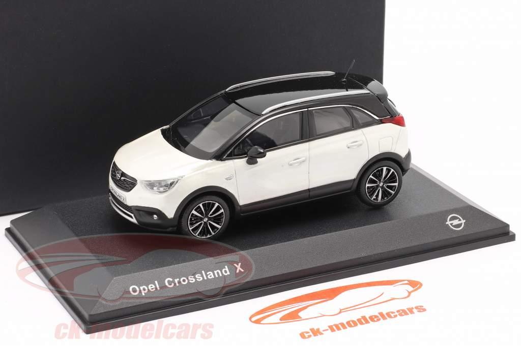 Opel Crossland X hvid metallisk 1:43 iScale