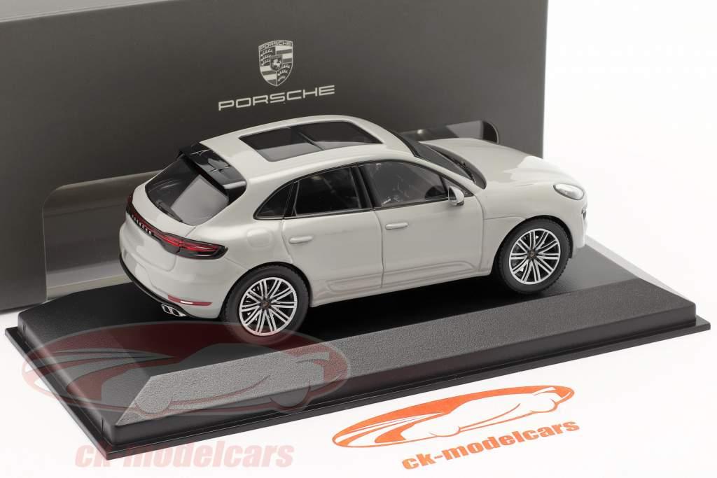 Porsche Macan Turbo Byggeår 2019 kridt Grå 1:43 Minichamps
