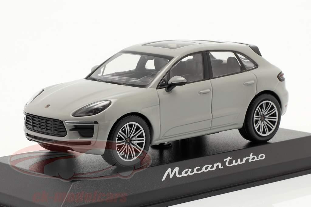 Porsche Macan Turbo Año de construcción 2019 tiza gris 1:43 Minichamps