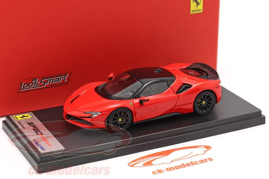 Ferrari SF90 Stradale Bouwjaar 2019 scuderia rood / zwart 1:43 LookSmart