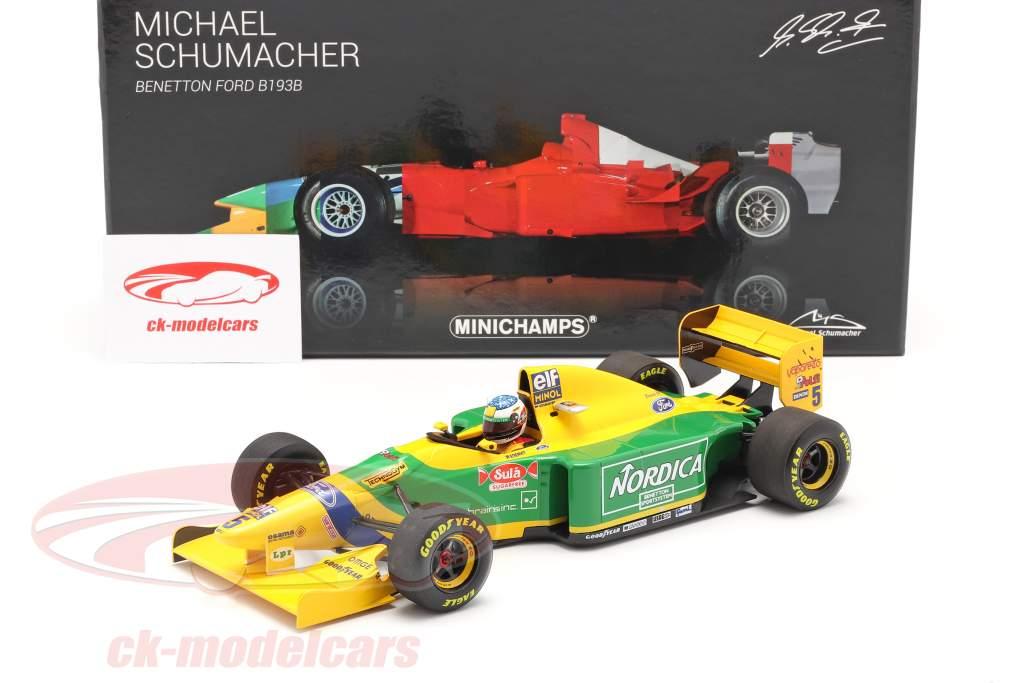 M. Schumacher Benetton B193B #5 vincitore Portogallo GP formula 1 1993 1:18 Minichamps