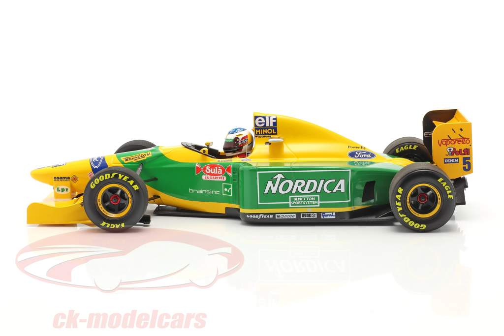 M. Schumacher Benetton B193B #5 vencedora Portugal GP Fórmula 1 1993 1:18 Minichamps