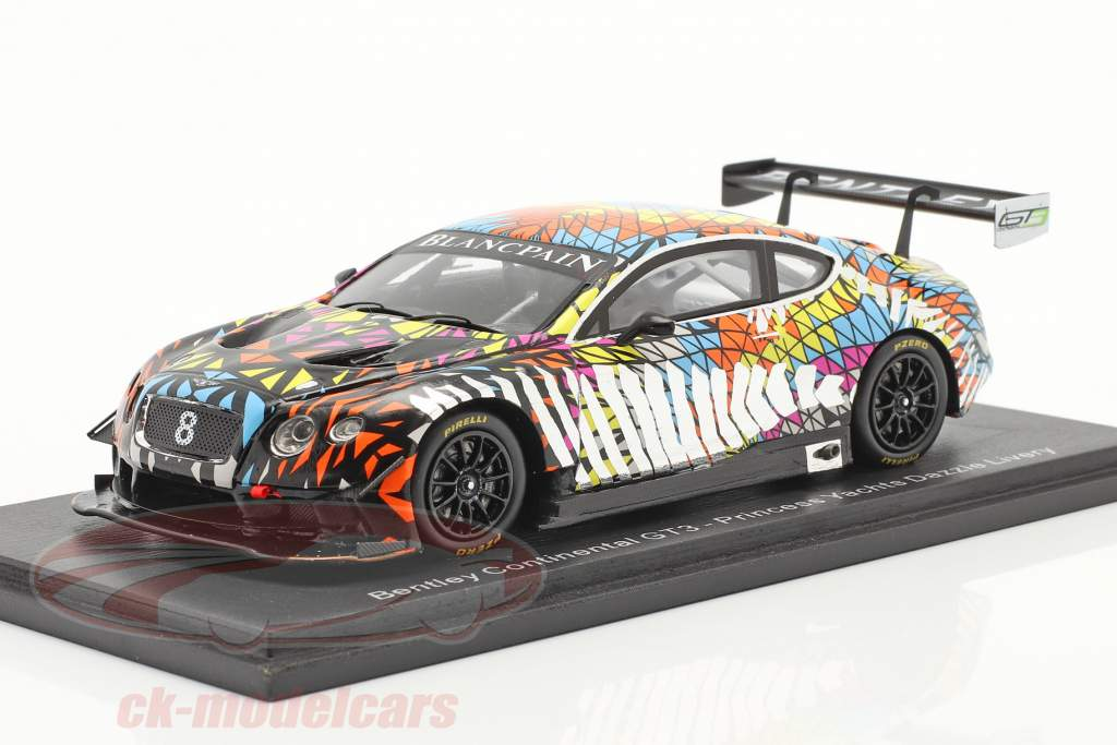 Bentley Continental GT3 #8 Princess Yachts Dazzle Livery 1:43 Spark