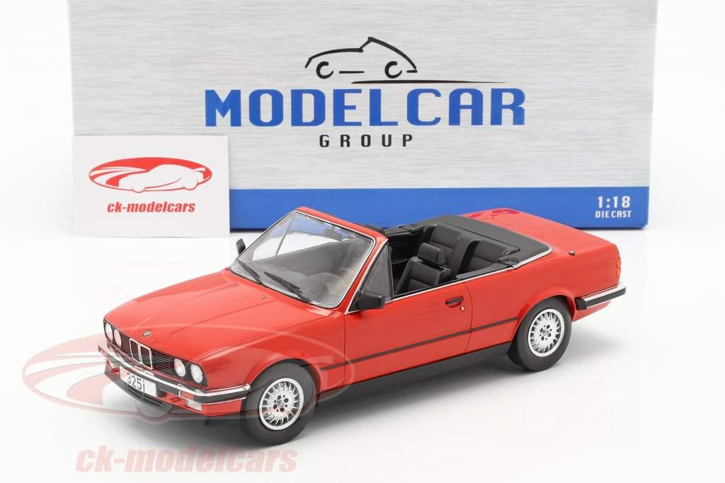 Modelcar Group 1 18 Bmw 3 Series E30 Cabriolet Year 1985 Red Mcg18151 Model Car Mcg18151 4052176939406