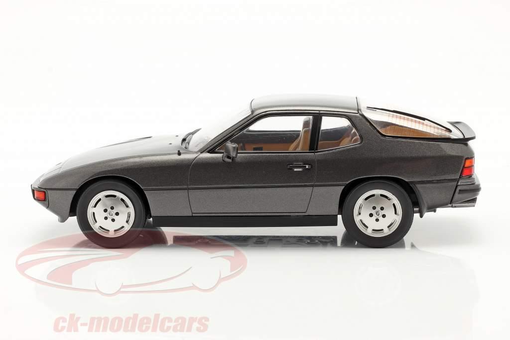 Porsche 924 Turbo Année de construction 1979 gris foncé métallique 1:18 Model Car Group