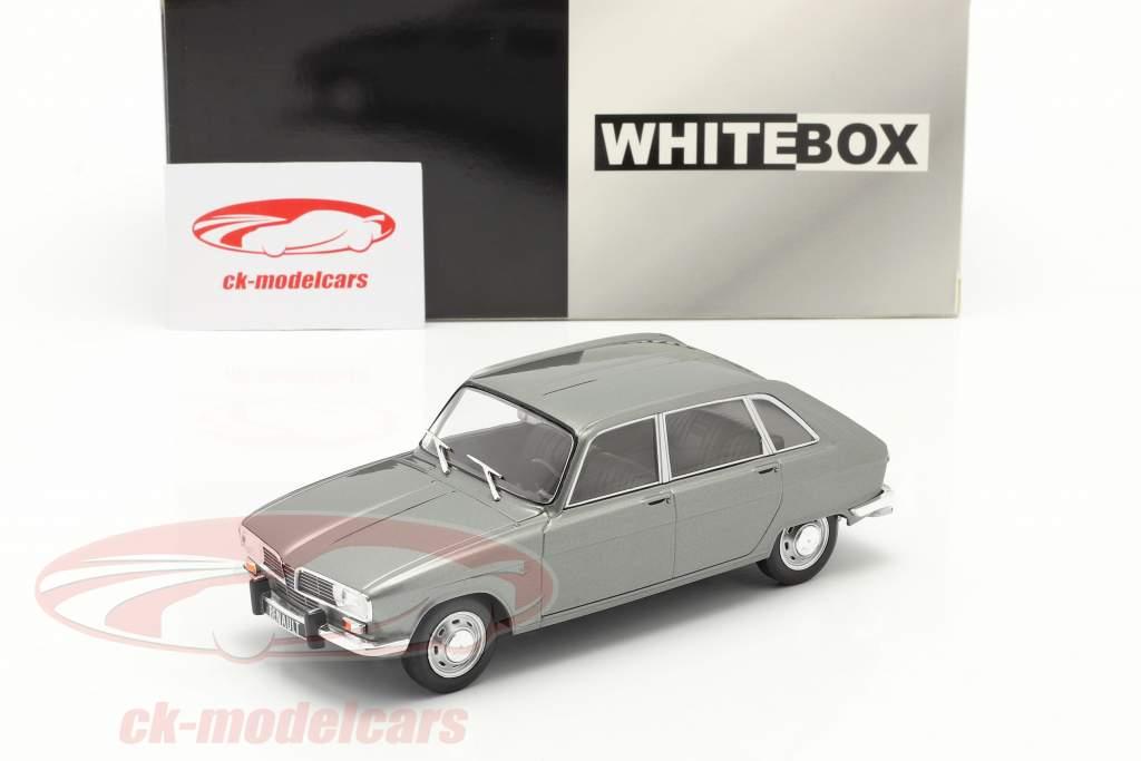 Renault 16 Année de construction 1965 Gris argent métallique 1:24 WhiteBox