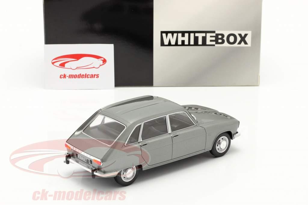 Renault 16 Ano de construção 1965 cinza prateado metálico 1:24 WhiteBox