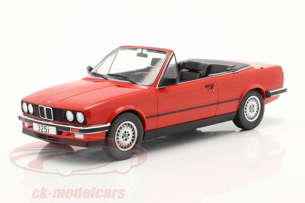 BMW 3 Serie (E30) Cabriolé Año de construcción 1985 rojo 1:18 Model Car Group