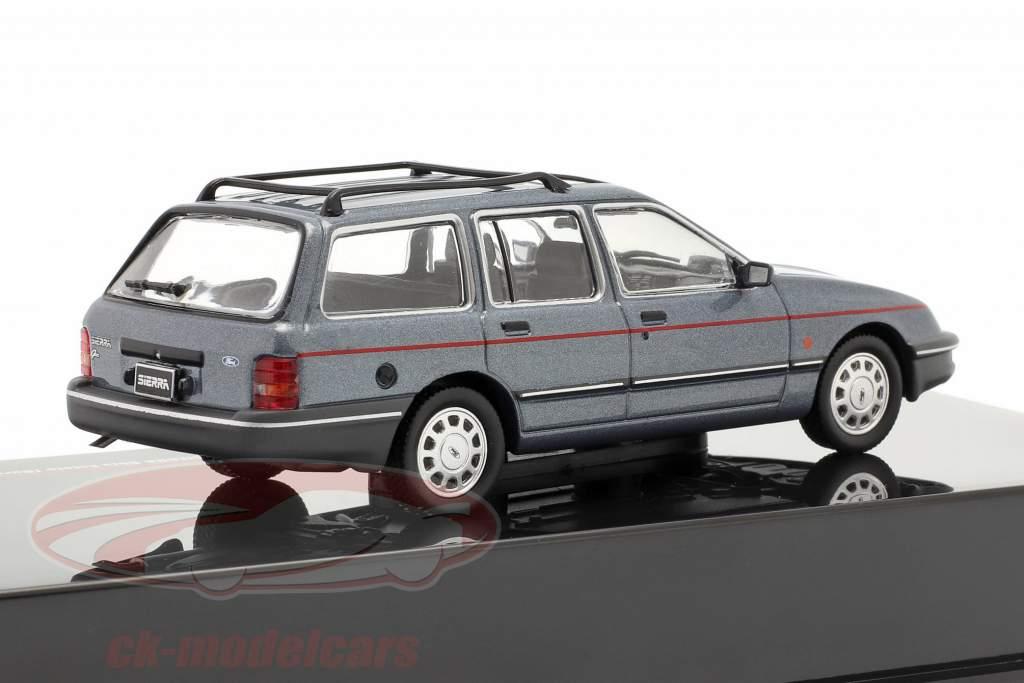 Ford Sierra Ghia Estate (Rural) Anno di costruzione 1988 grigio-blu metallico 1:43 Ixo