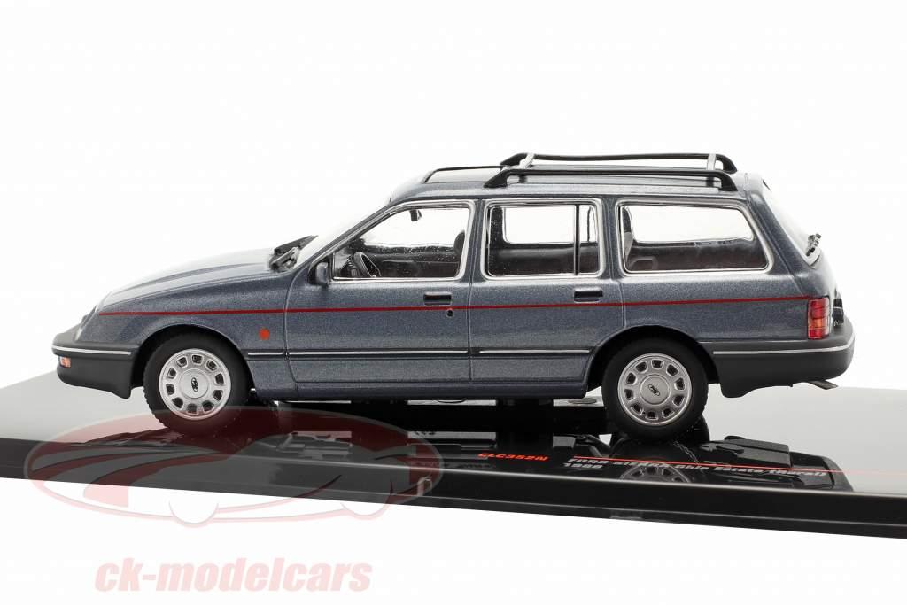 Ford Sierra Ghia Estate (Rural) Baujahr 1988 graublau metallic 1:43 Ixo