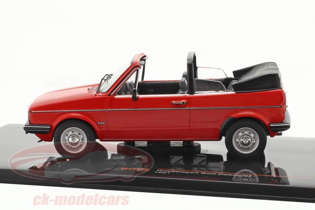 Volkswagen VW Golf I Cabriolet Anno di costruzione 1981 rosso 1:43 Ixo