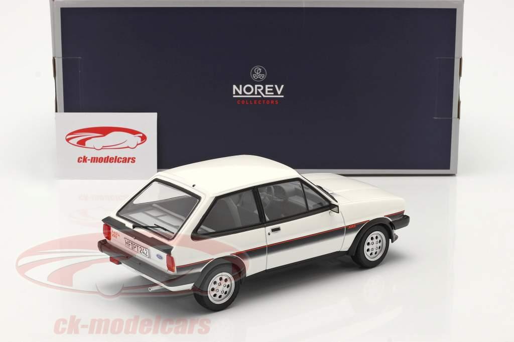 Ford Fiesta XR2 Année de construction 1981 blanc / noir 1:18 Norev
