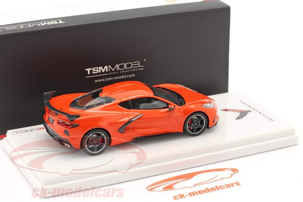 Chevrolet Corvette C8 Stingray year 2020 orange 1:43 TrueScale