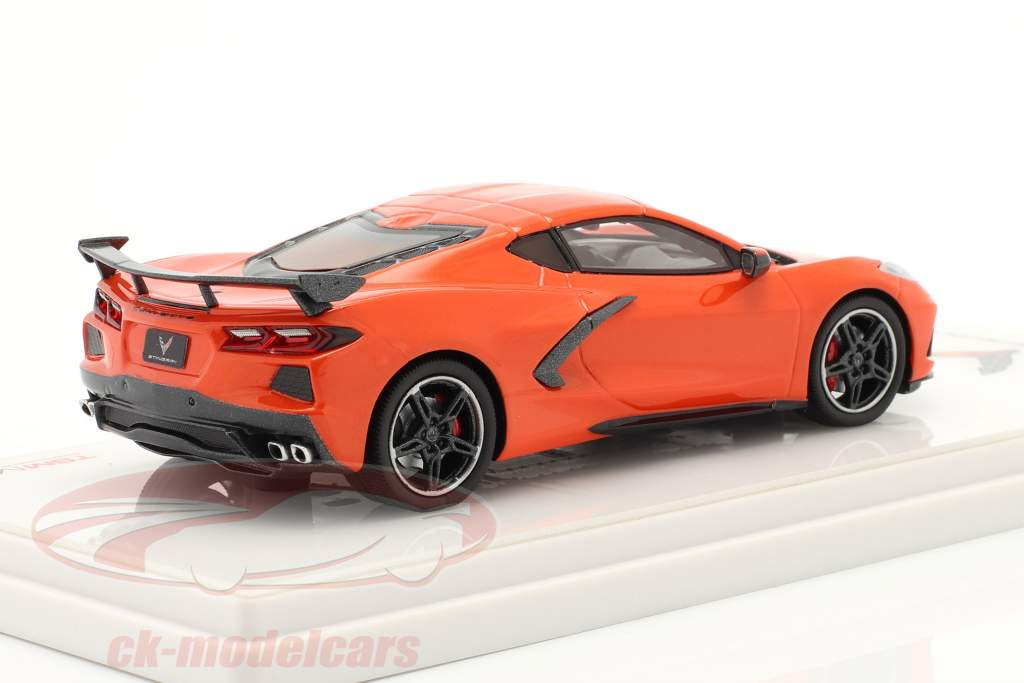 Chevrolet Corvette C8 Stingray Byggeår 2020 orange 1:43 TrueScale