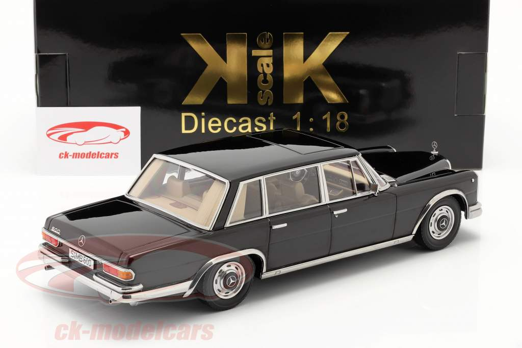 Mercedes-Benz 600 SWB (W100) Année de construction 1963 noir 1:18 KK-Scale