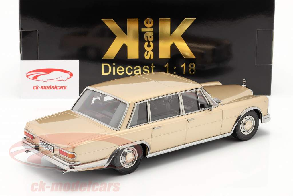 Mercedes-Benz 600 SWB (W100) year 1963 light gold metallic 1:18 KK-Scale