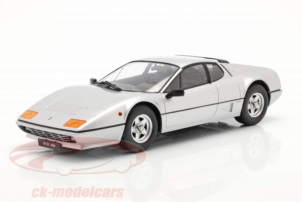 Ferrari 512 BBi Byggeår 1981 sølv 1:18 KK-Scale
