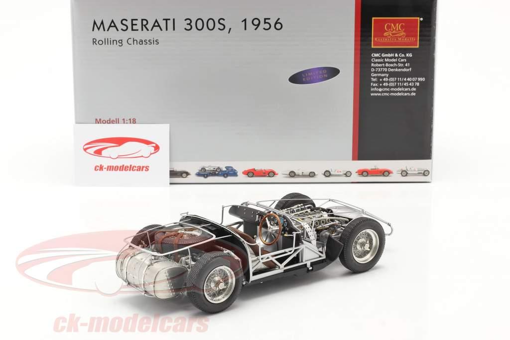 Maserati 300S 24h LeMans 1956 châssis roulant 1:18 CMC