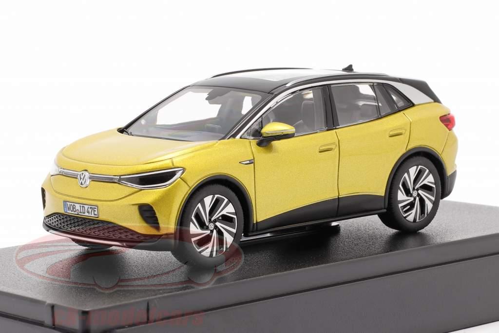 Volkswagen VW ID.4 Bouwjaar 2021 honing geel metalen 1:43 Norev