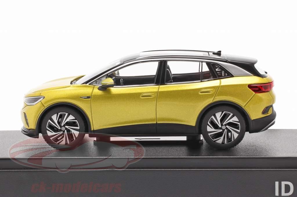 Volkswagen VW ID.4 Año de construcción 2021 miel amarillo metálico 1:43 Norev