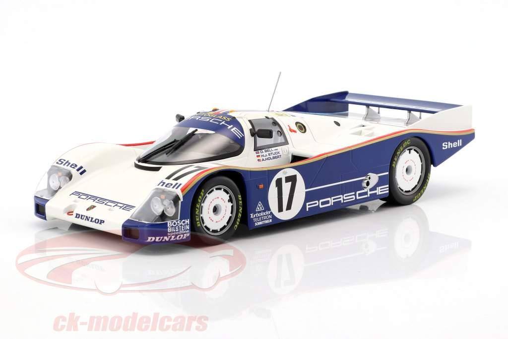 Porsche 962C #17 Gagnant 24h LeMans 1987 Stuck, Bell, Holbert 1:18 Norev
