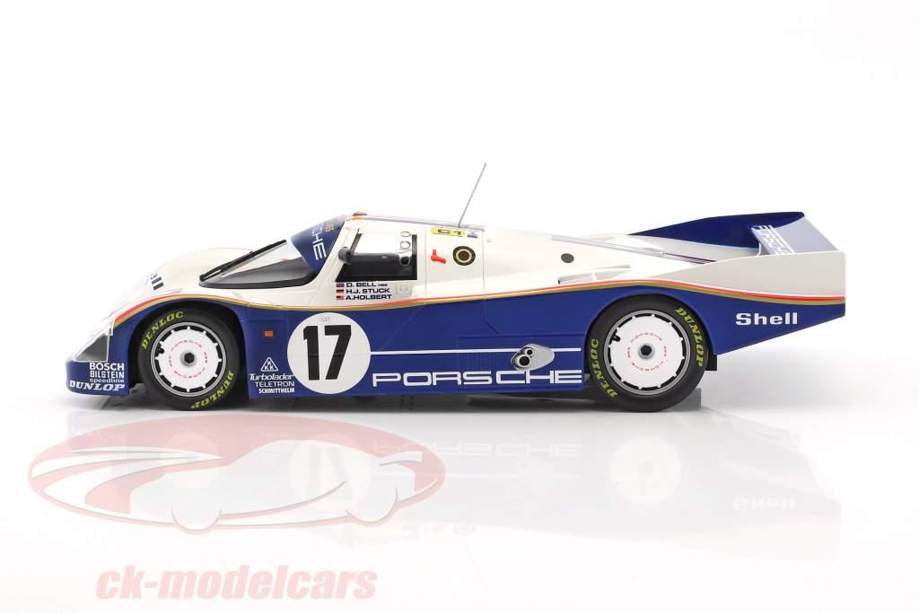 Porsche 962C #17 Vincitore 24h LeMans 1987 Stuck, Bell, Holbert 1:18 Norev