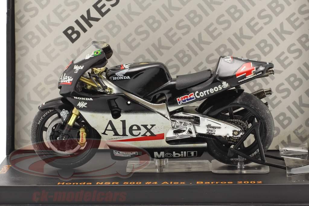 Alex Barros Honda 500 #4 MotoGP 2002 1:24 Ixo