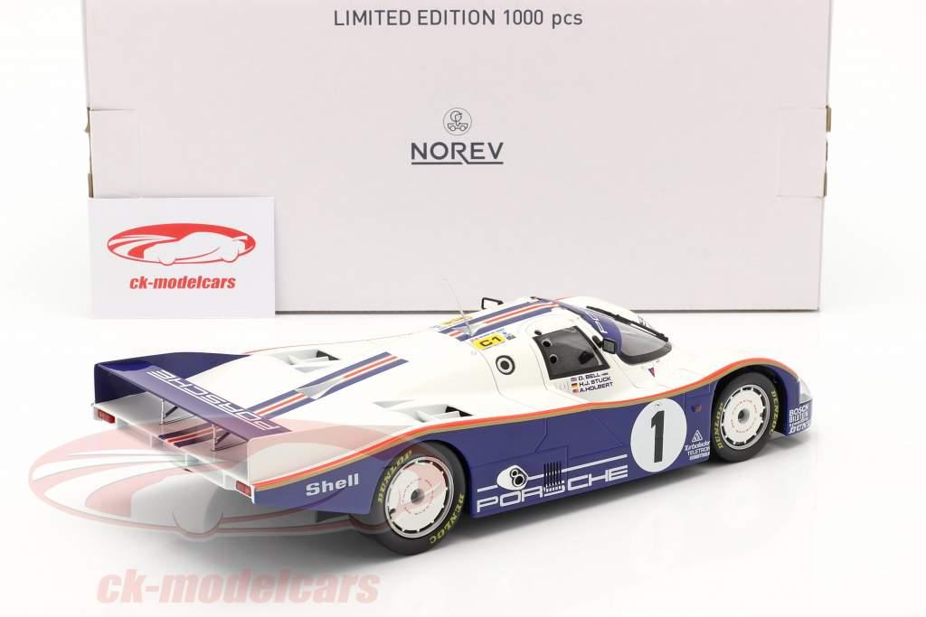 Porsche 962C #1 winnaar 24h LeMans 1986 Stuck, Bell, Holbert 1:18 Norev