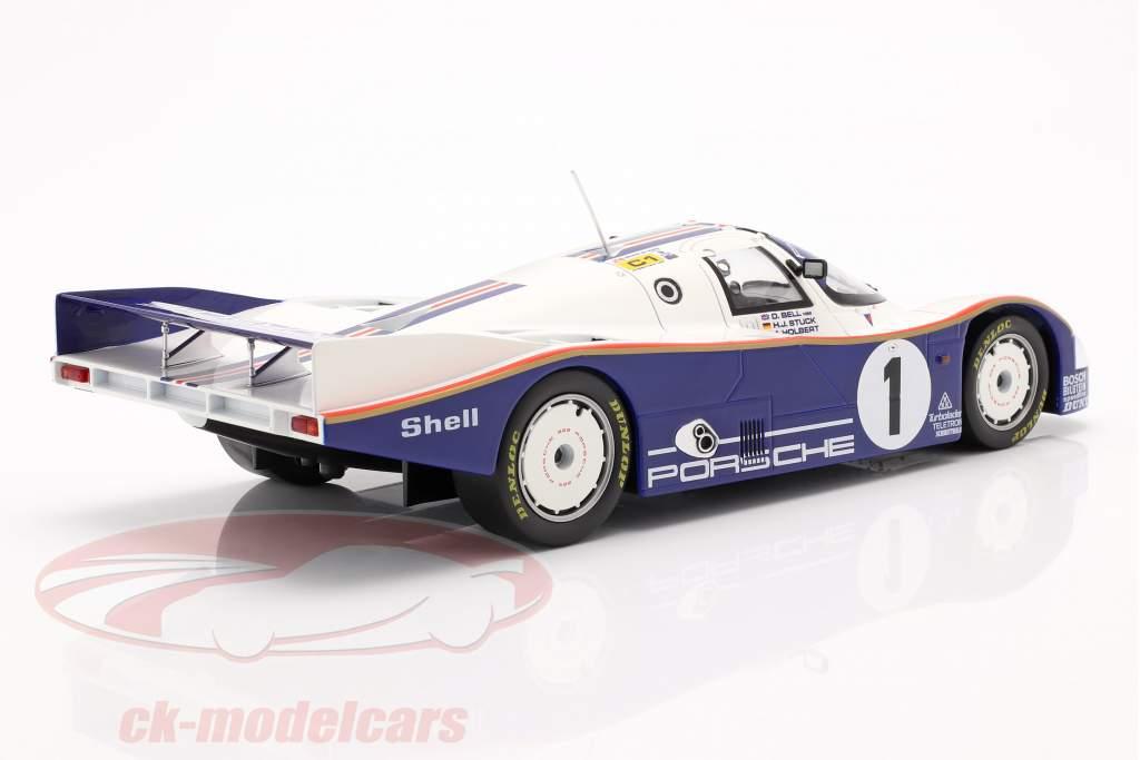 Porsche 962C #1 ganador 24h LeMans 1986 Stuck, Bell, Holbert 1:18 Norev