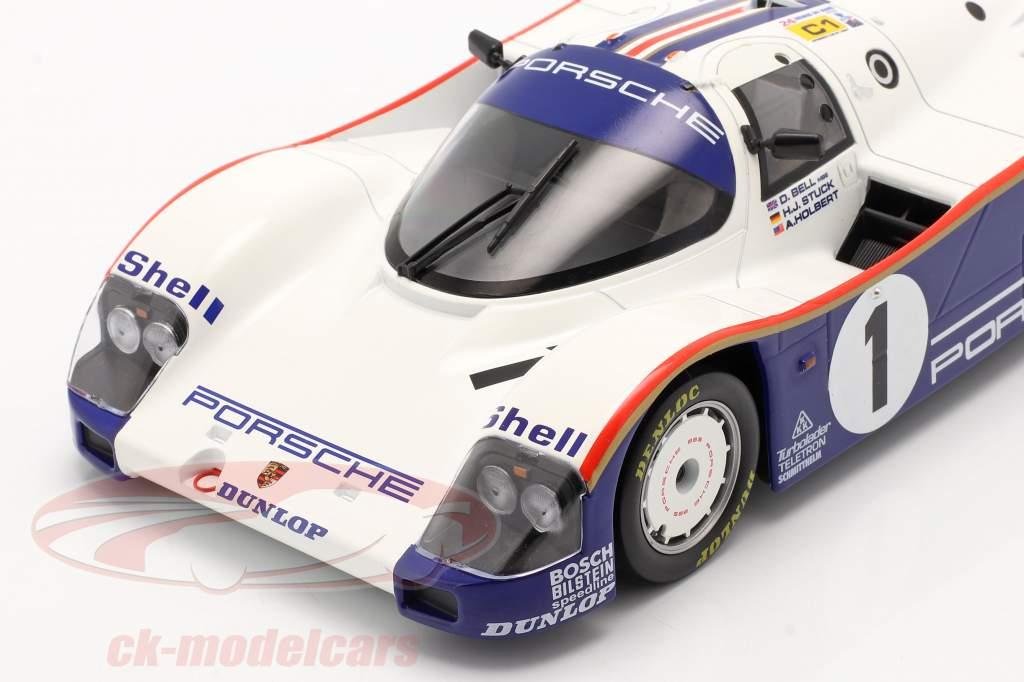 Porsche 962C #1 vencedora 24h LeMans 1986 Stuck, Bell, Holbert 1:18 Norev