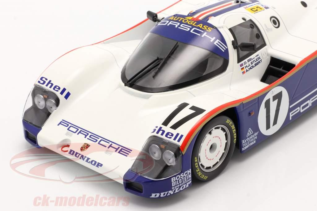 Porsche 962C #17 Winnaar 24h LeMans 1987 Stuck, Bell, Holbert 1:18 Norev