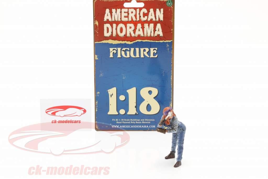 figure #1 Female Machanic 1:18 American Diorama