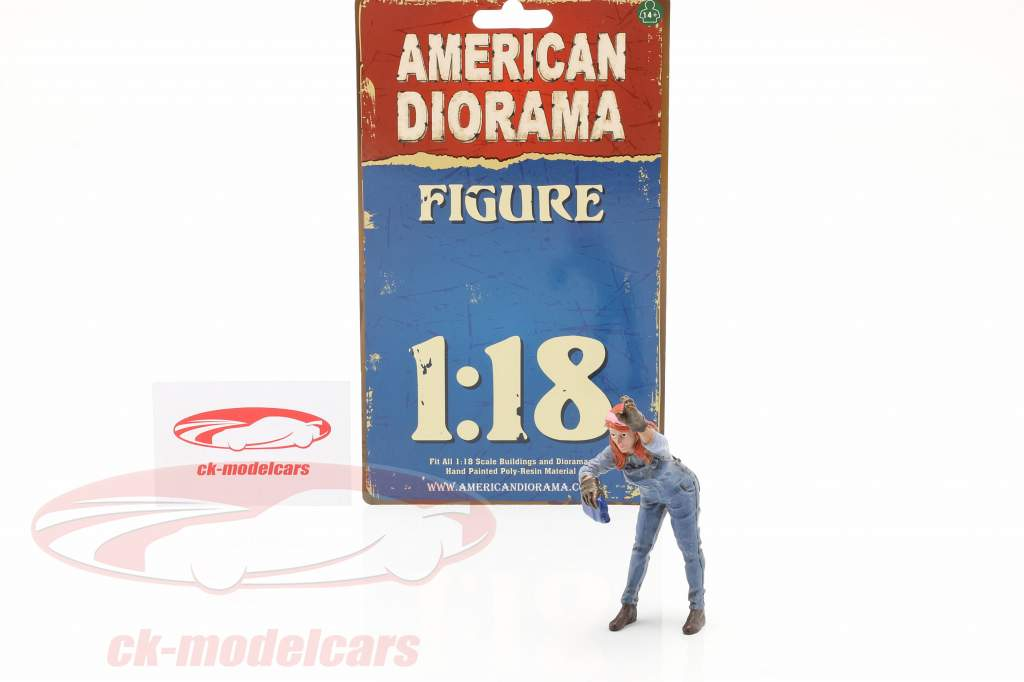 figuur #2 Vrouw Monteur 1:18 American Diorama