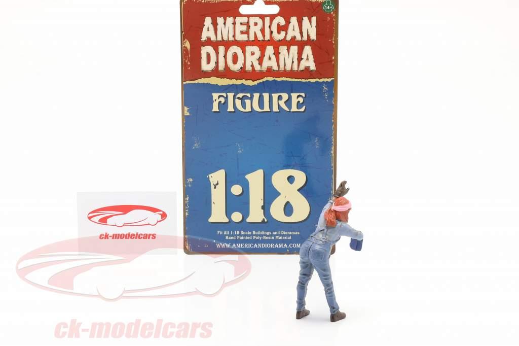 figure #2 Female Mechanic 1:18 American Diorama